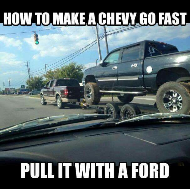Hahaha Ford Jokes Chevy Jokes Truck Memes