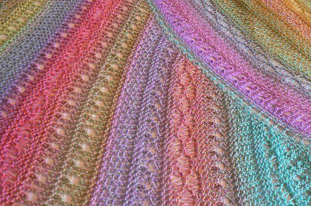 Loom Knit American Paris Shawl Beautiful Diy Telar Pinterest