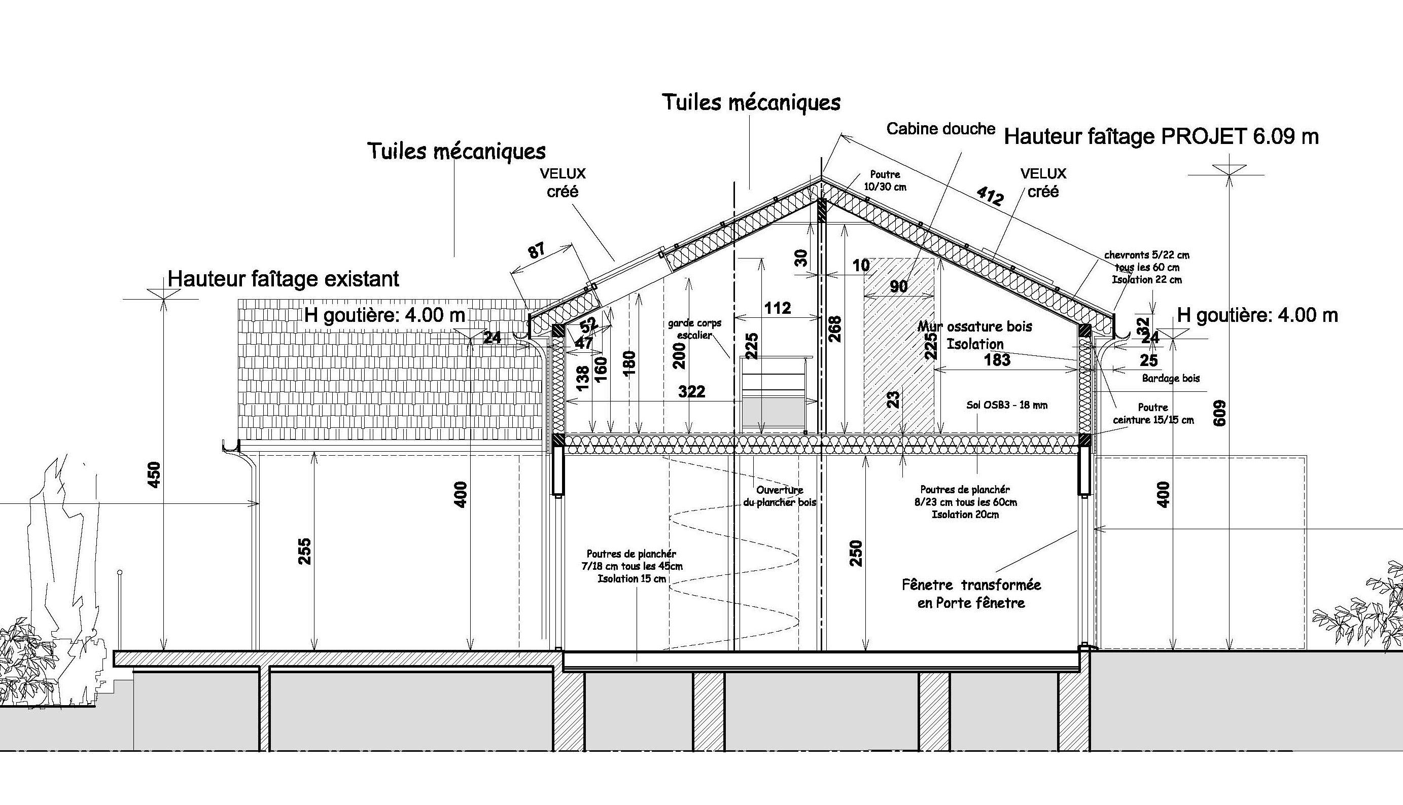 Resultat De Recherche D Images Pour Coupe Maison Hauteur 6 M Maison Hauteur Velux