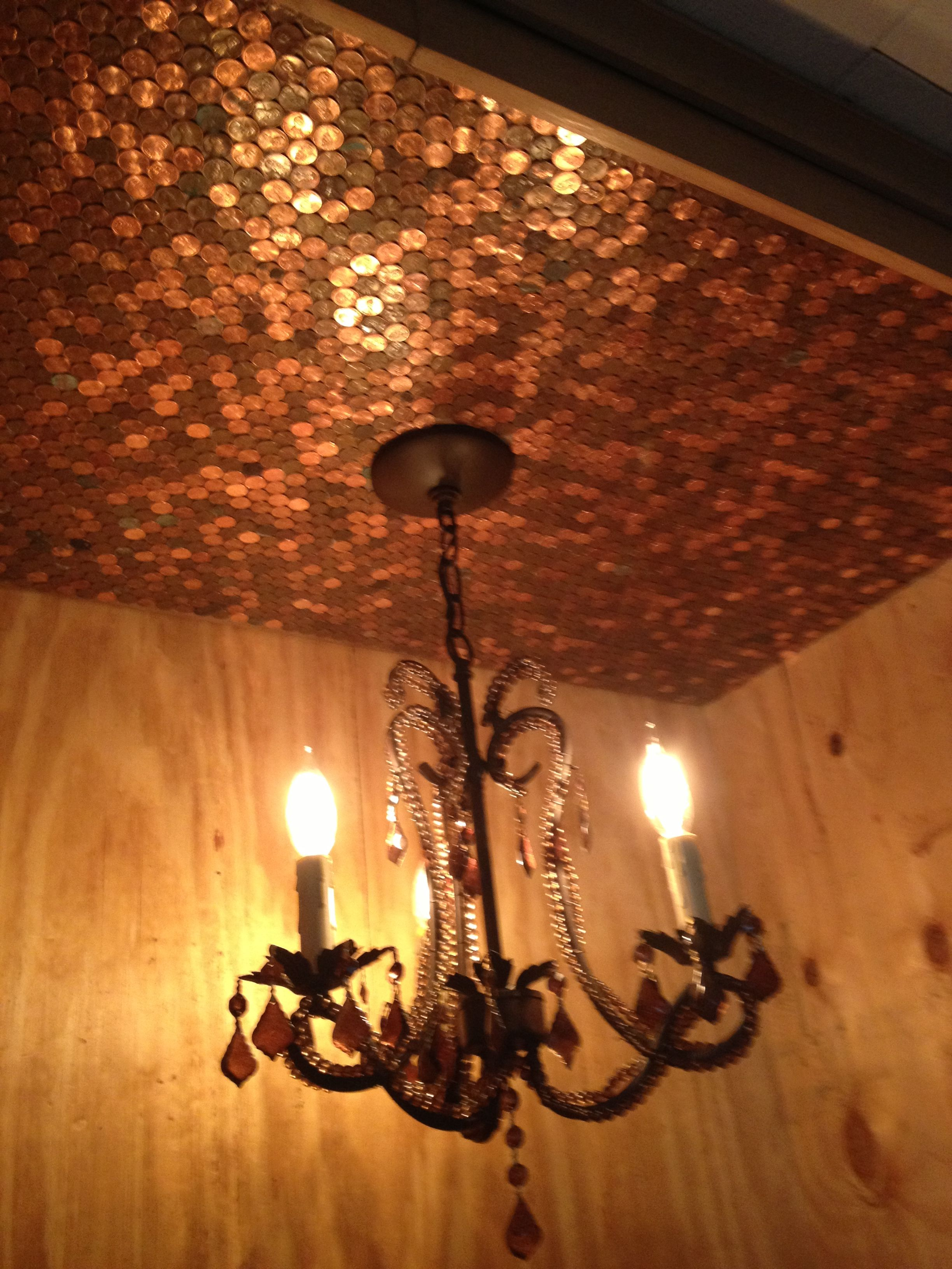 Pennies from heaven p diy crafts for me pinterest pennies copper ceiling made from pennies dailygadgetfo Choice Image