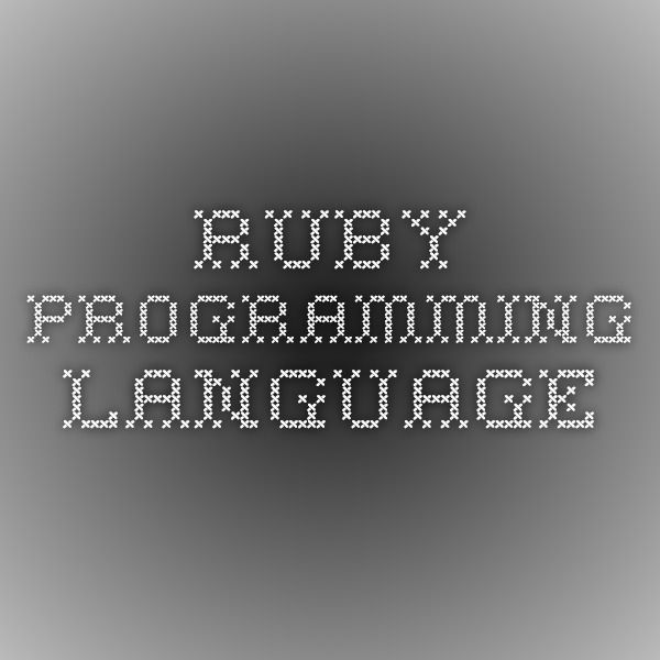 Ruby Programming Language Web developer Pinterest Ruby