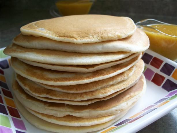 Fluffy Pancakes With Orange Maple Syrup