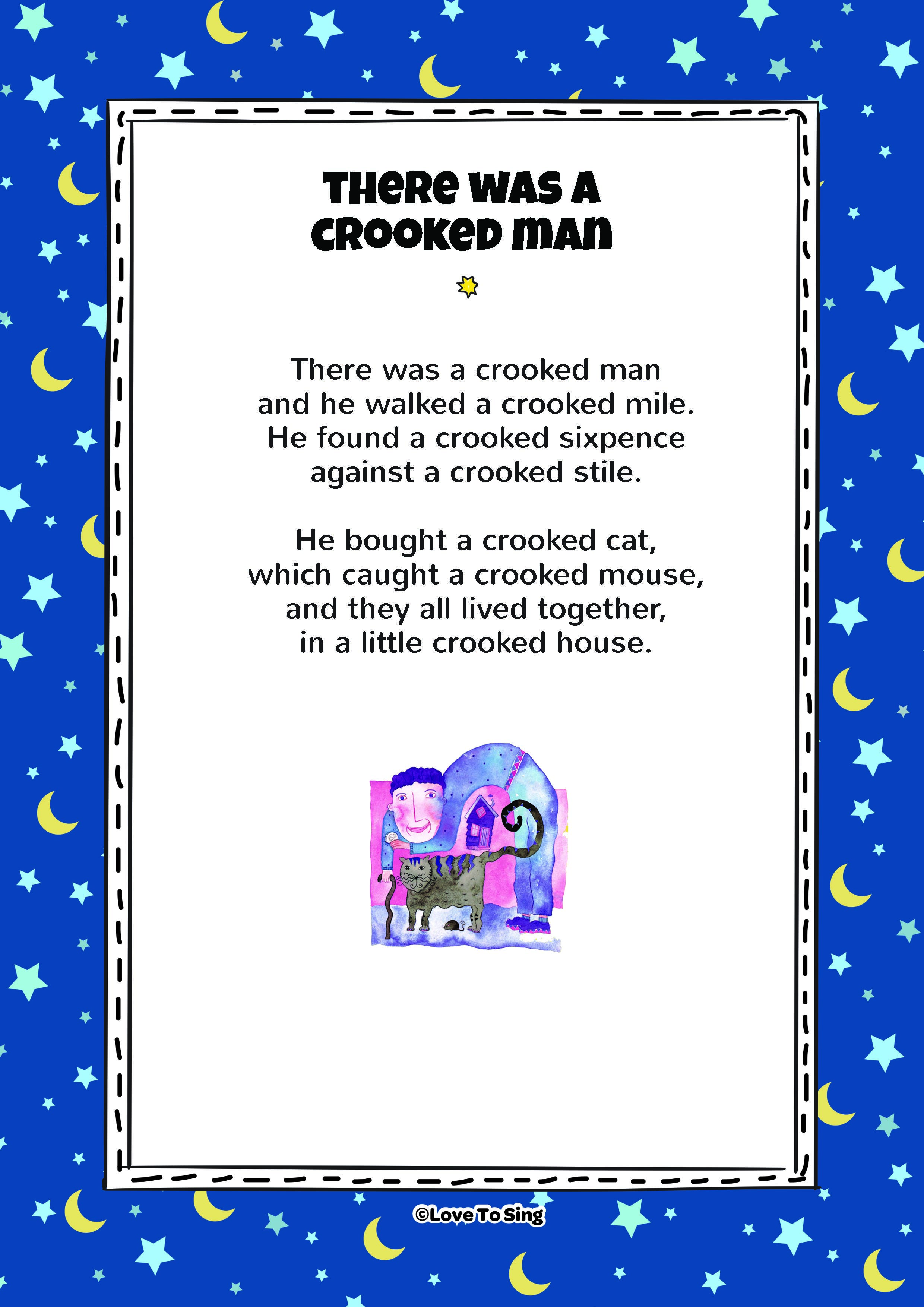 Nursery Rhyme There Was A Crooked Man Kids Will Love This Fun Sing Along Free Lyricusic On Our Website Lovetosing Nurseryrhymes Freelyrics