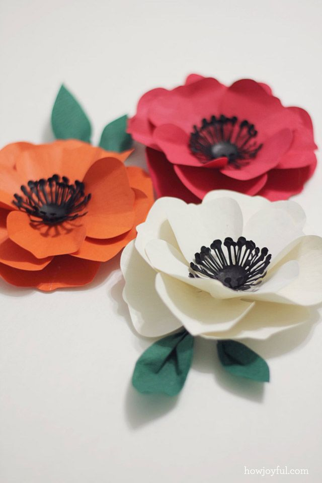 How To Make A Poppy Flower With Paper Tutorial And Cutting Files