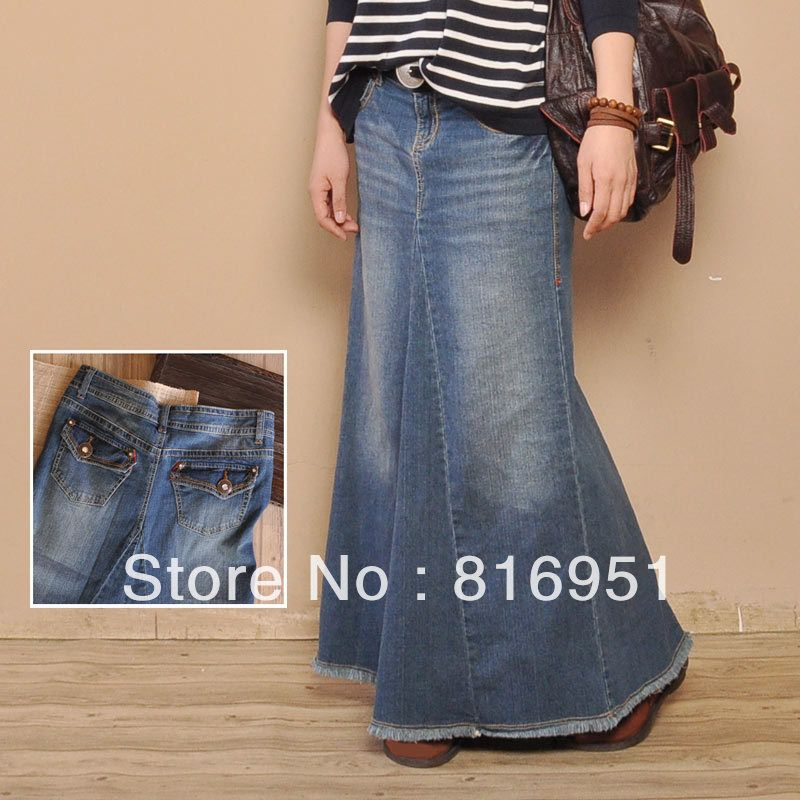 Denim long skirt sale – Modern skirts blog for you