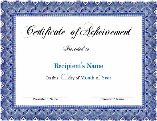 Award Certificate Template Microsoft Word Links Service Epdpzk