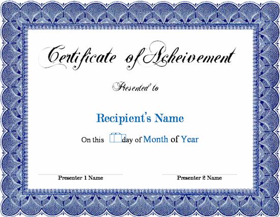 Certificate Template Word Free Certificate Templates Certificate Of Achievement Template Awards Certificates Template