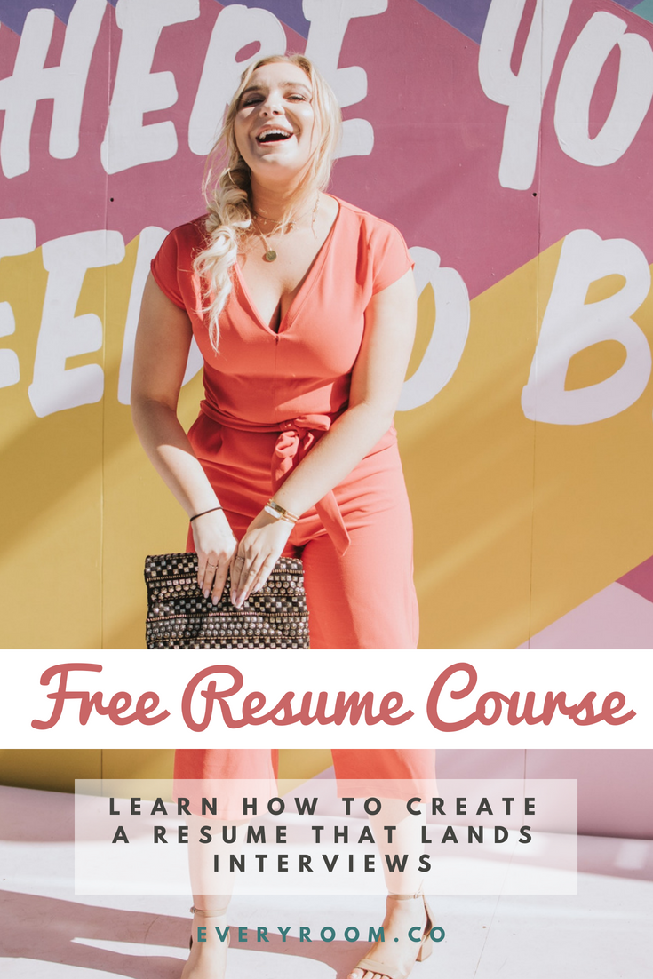 Free video course teaches you how to create a resume that