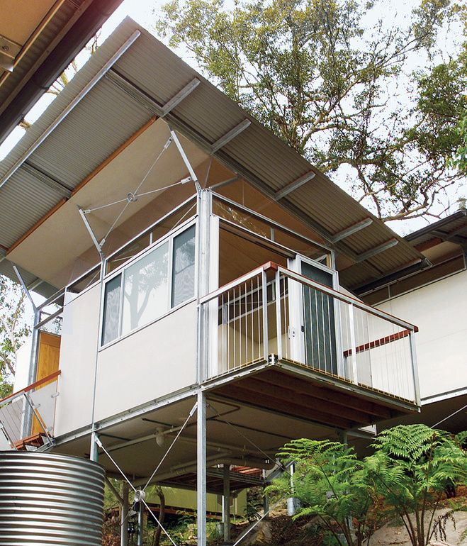 Slideshow 9 Prefab Homes Set On Stilts Dwell House On Stilts Prefab Homes Wooden House Design