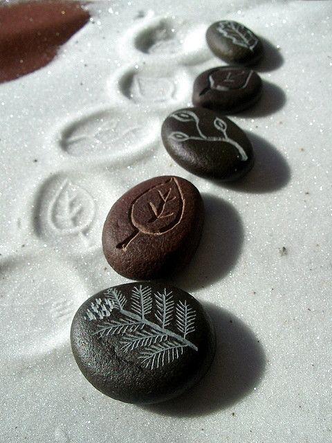 Carved river stones...dremel bait.. ;-)