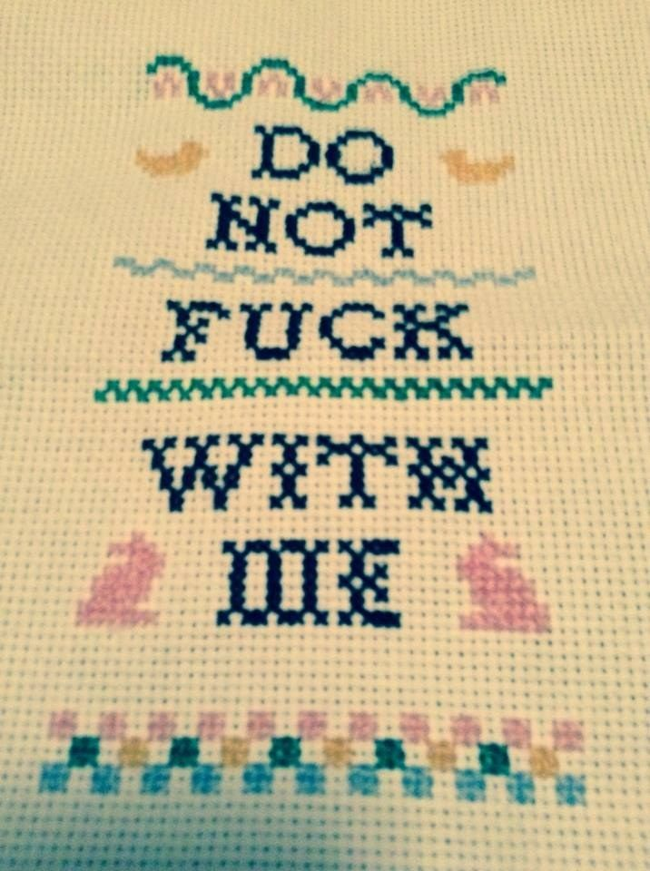 <b>Deck your halls with embroidered curse words.</b> Slightly NSFW.