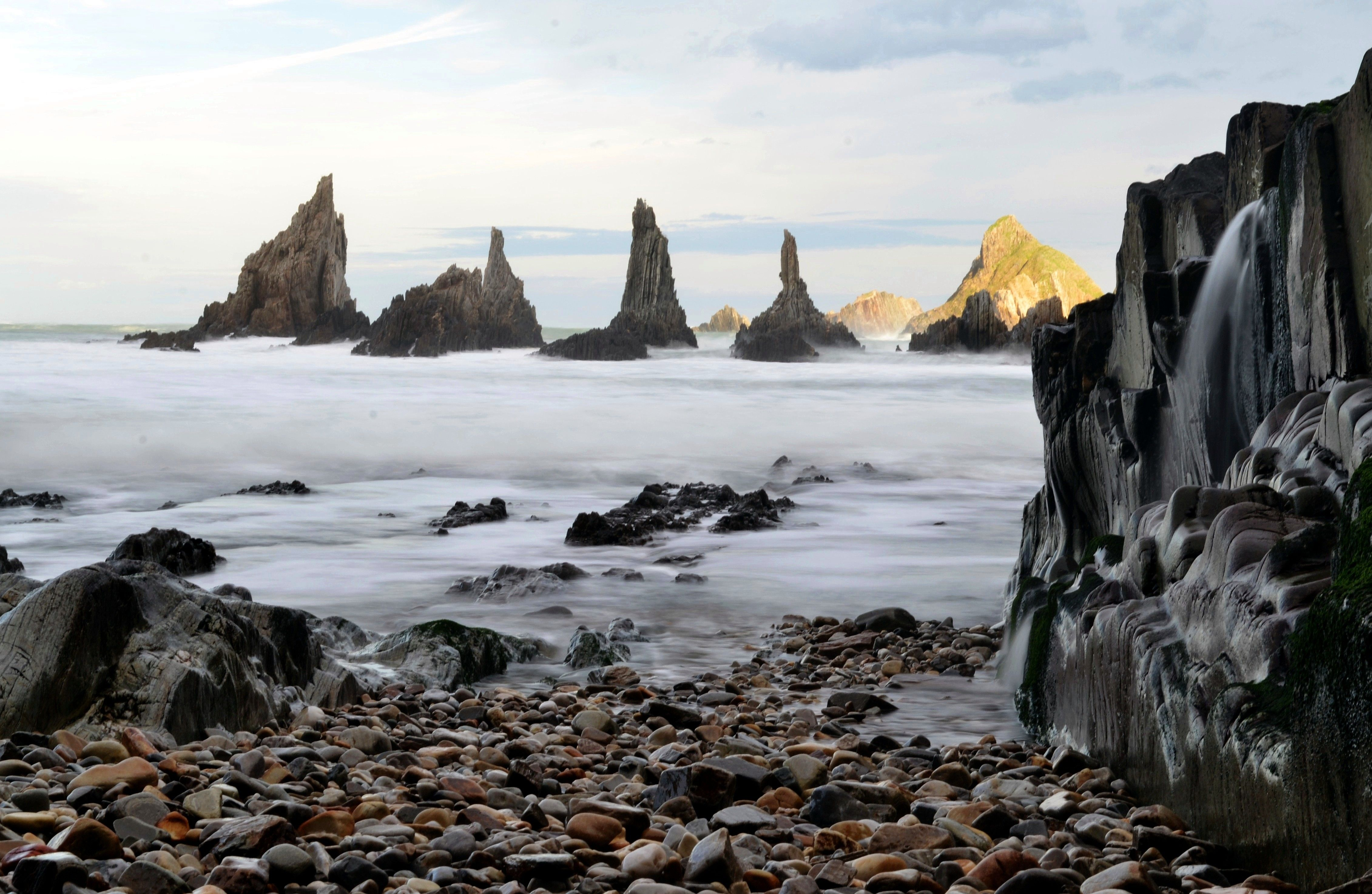 Playa De Gueirua Cudillero Asturias Spain Playa Naturaleza Spain