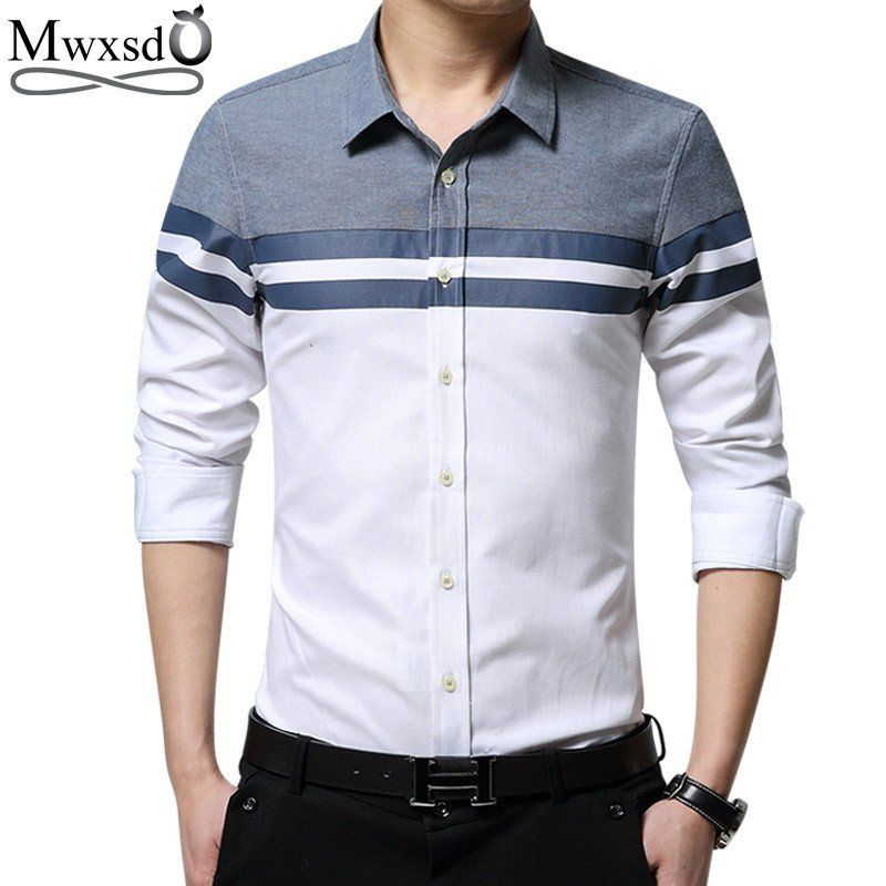 2017 Spring New Brand Casual Men Shirt Long Sleeve Slim Fit Shirts