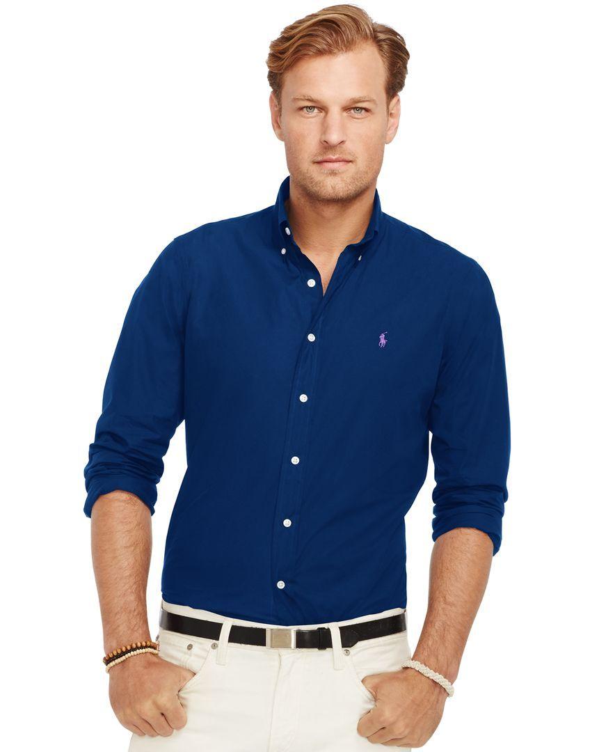 Leg day t shirts men s polo shirt slim - Polo Ralph Lauren Men S Big Tall Poplin Shirt Casual Button Down Shirts Men Macy S
