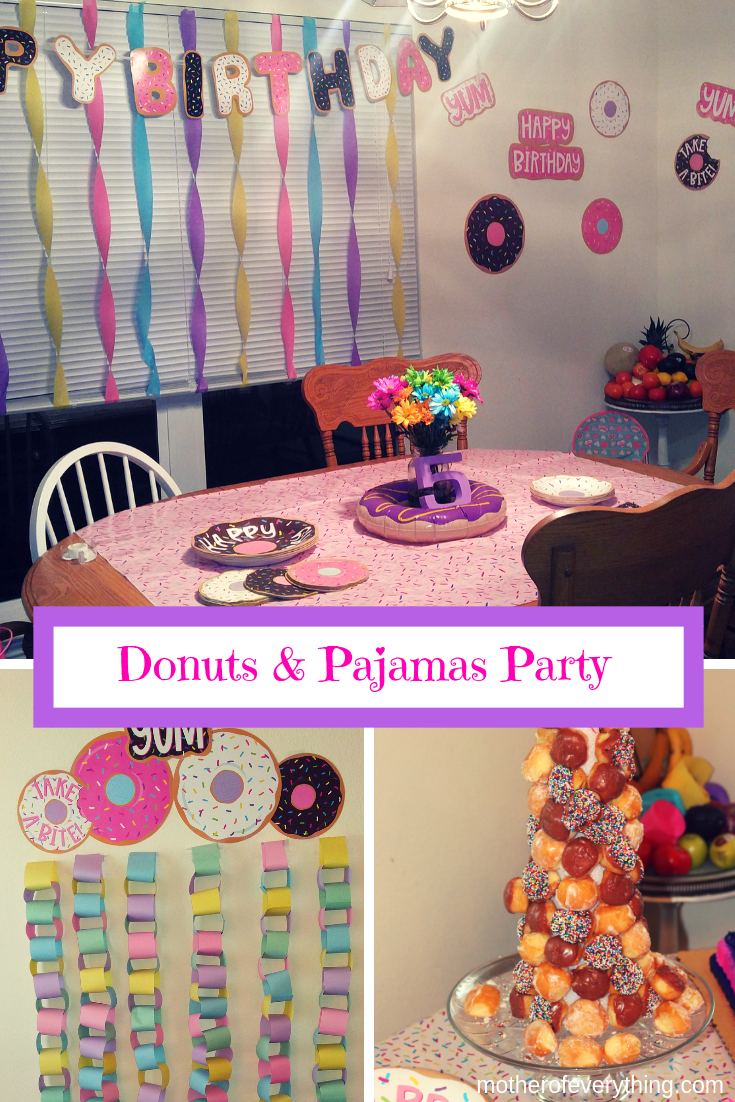 Donuts Pajams Party Donut 5 Year Old Ideas Birthday