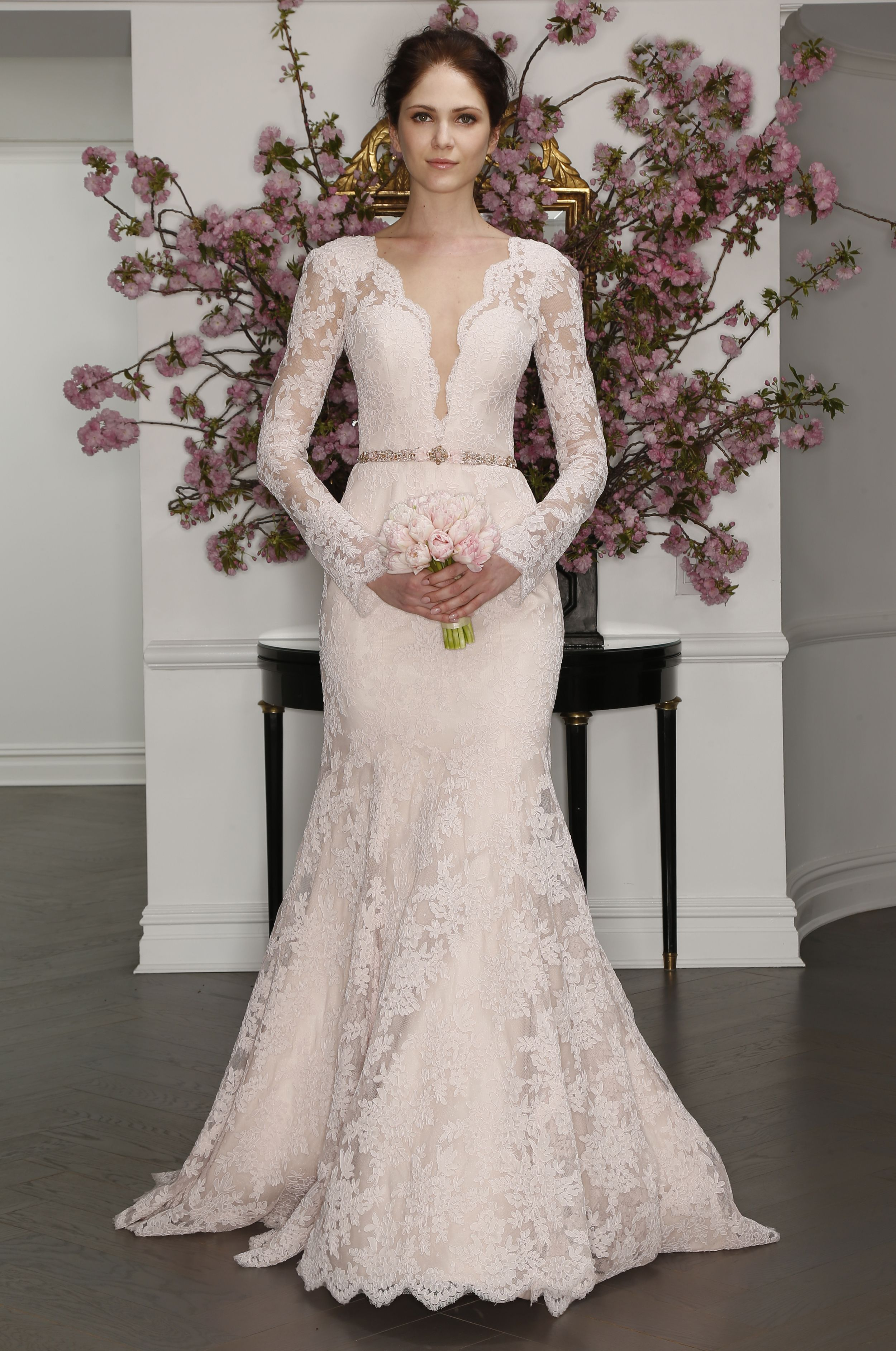Long sleeved lace wedding dress  Pin by La Belle Mariée Bridal on Legends by Romona Kevesa at La