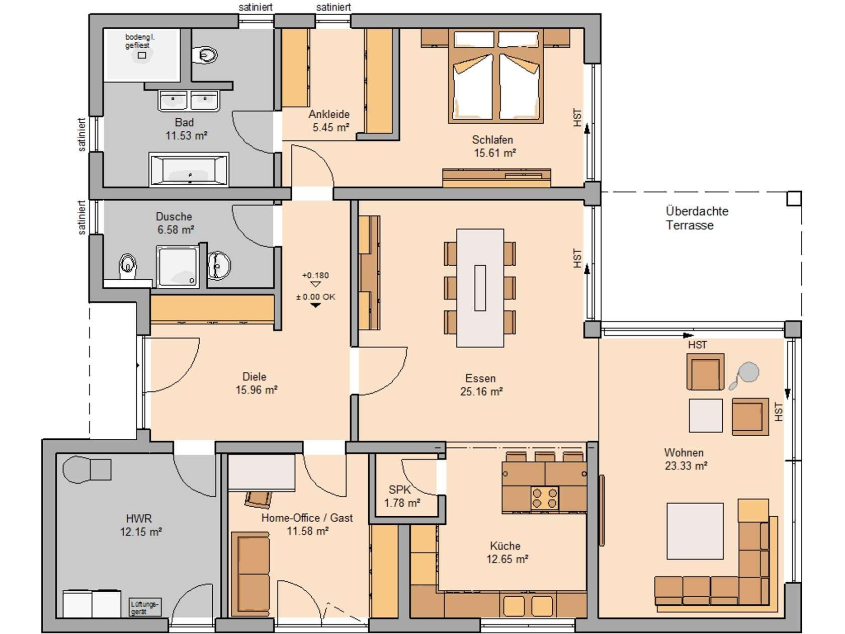 Bungalows in 2020 Haus grundriss, Grundriss bungalow und