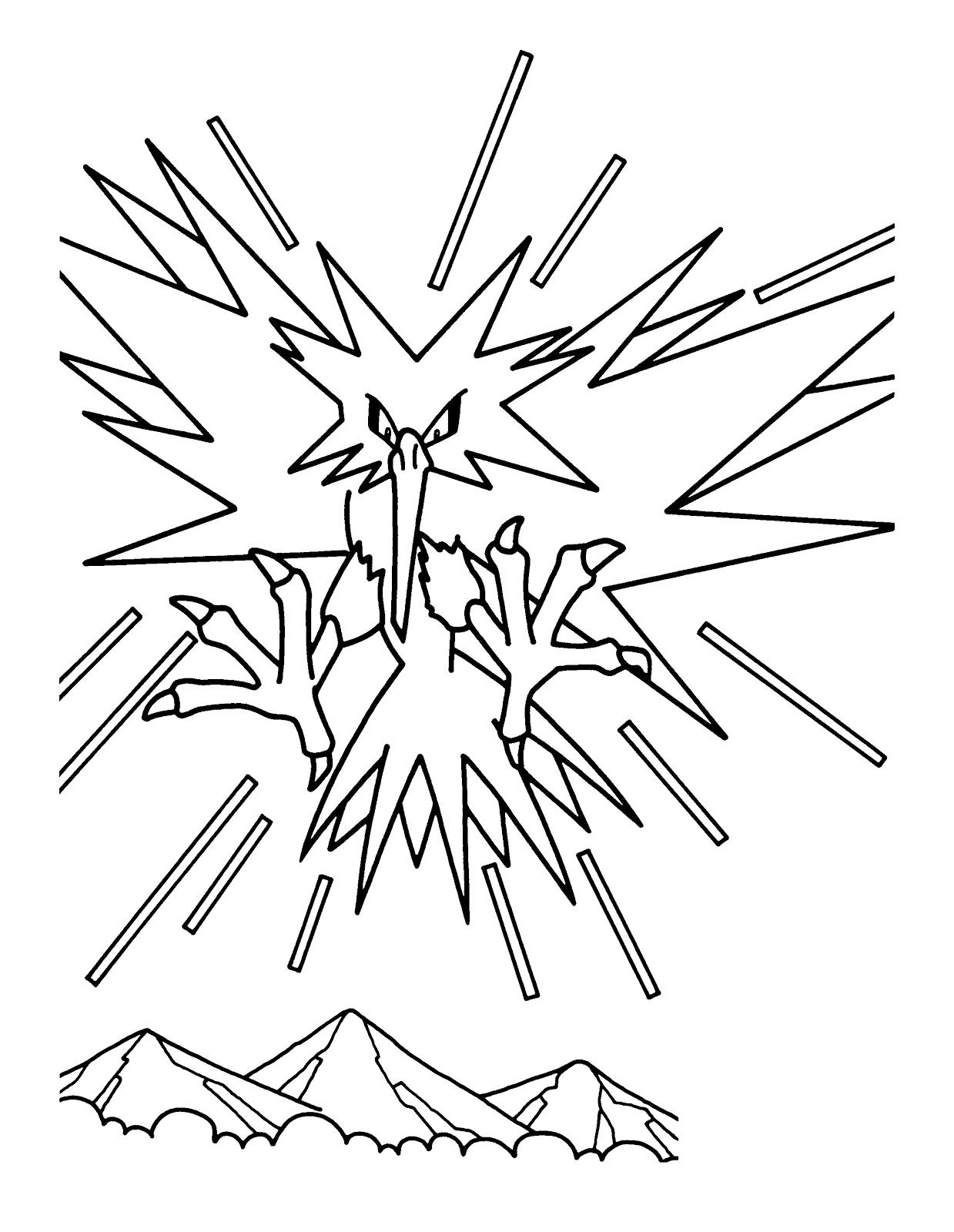 Printable Zapdos Pokemon Coloring Pages Pokemon Coloring Pages Pokemon Coloring Zapdos Pokemon