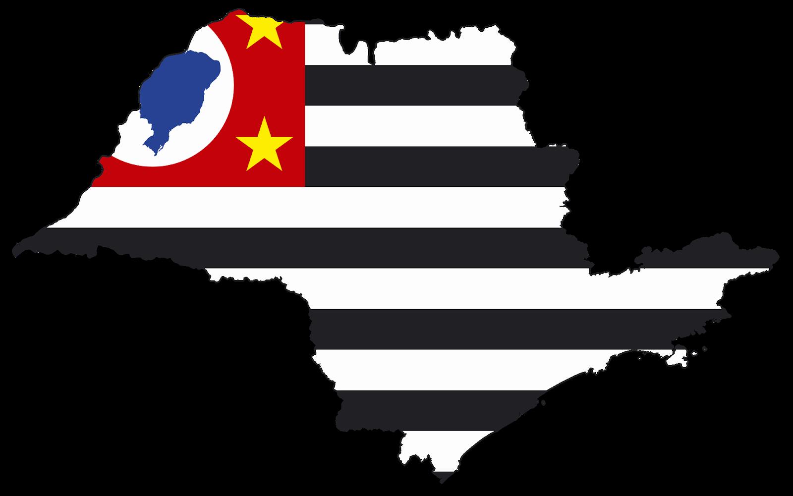 Mapa Bandeira do Estado de São Paulo  0d296651a46f6