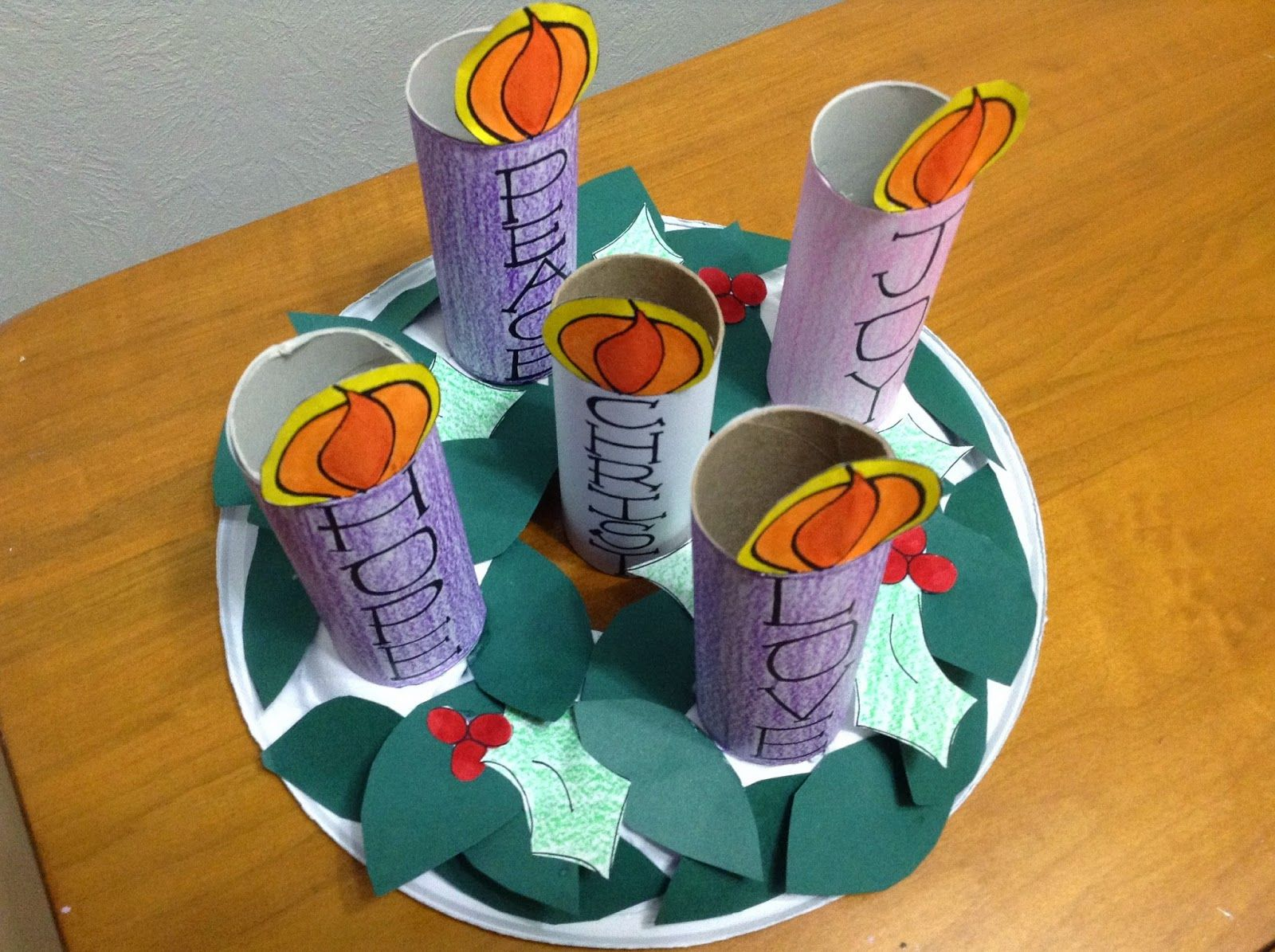 Look To Him And Be Radiant Kids Advent Wreath Free