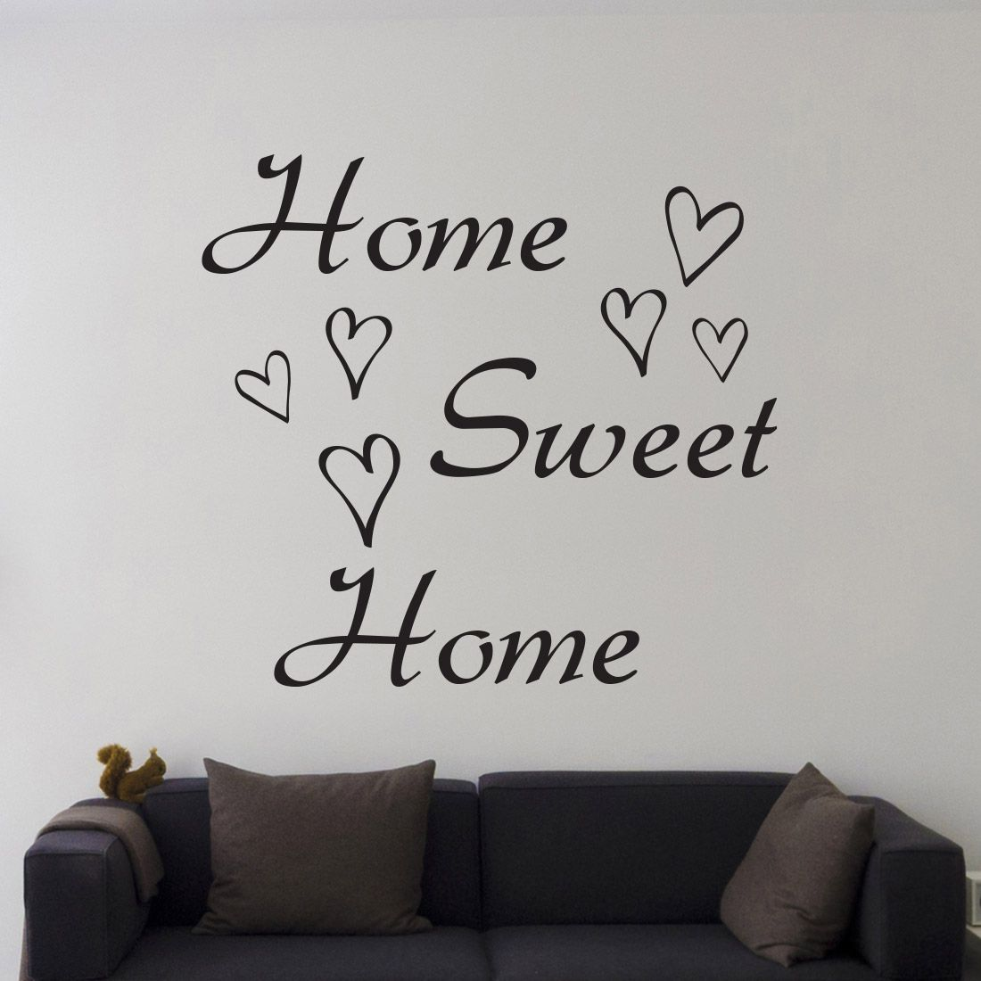 Muursticker Home Sweet Home.Muursticker Home Sweet Home Muurteksten Muurstickers