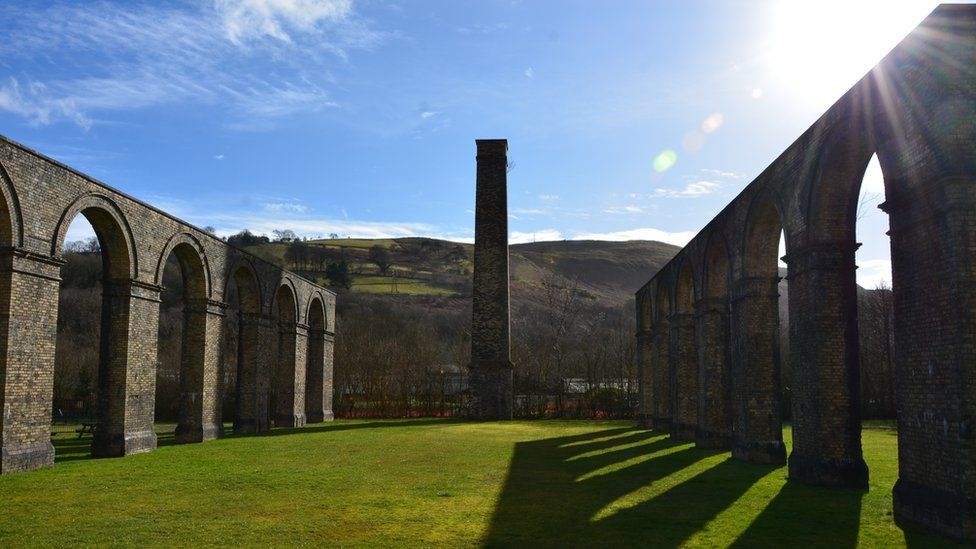 The old iron works at Ynyscedywn, Ystradgynlais, Swansea Valley, Wales, UK