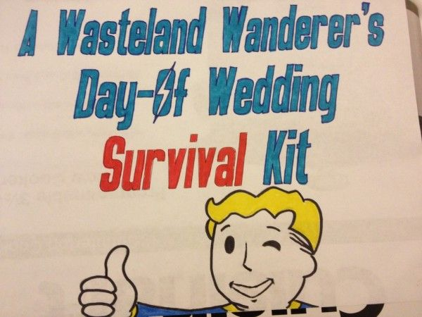 Make This Fallout Themed Wedding Day Survival Kit For Your Gamer