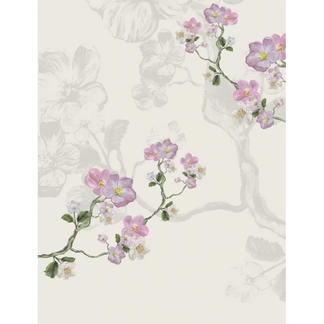 Eijffinger Vlies Wandbild Blumen grau 310098 Tapeten