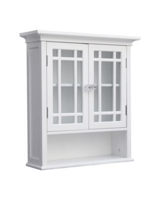 Neal Wall Cabinet with 2 Doors and 1 Shelf - White in 2018