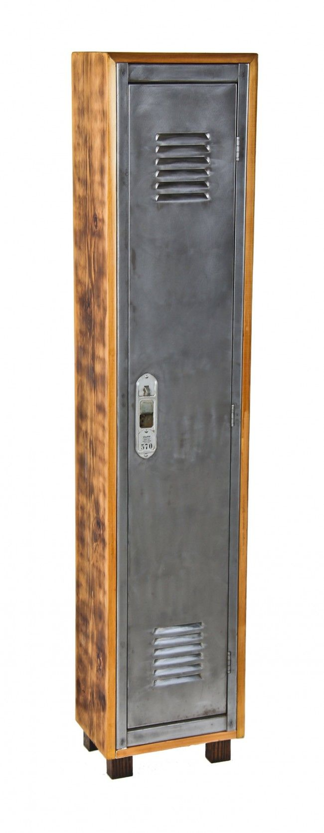 Repurpose vintage locker repurposed transformed rustic for Repurposed metal furniture