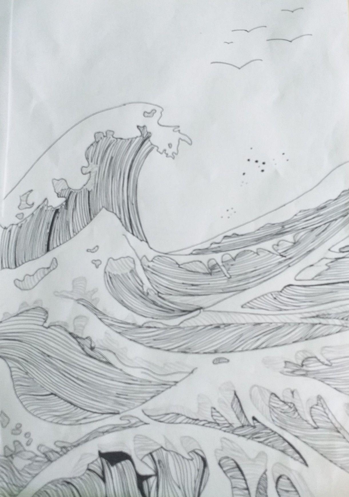 Pin De Carolina Alvaro En Marina Playa Dibujo Dibujo Del Mar Paisaje A Lapiz