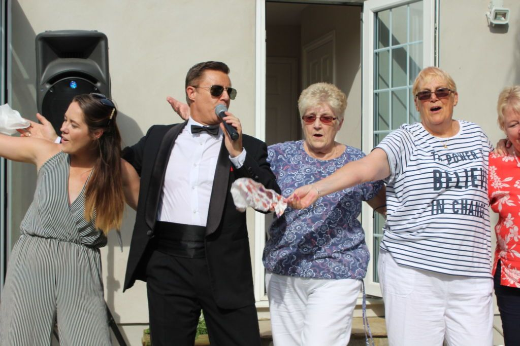 Sheila chose Andy's Rat Pack tribute for her 80th Birthday