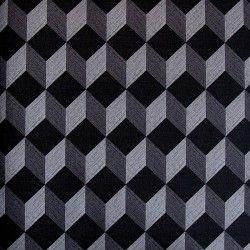 6b372aab2a0 Diseño con formas geométricas 3D color plata en este papel pintado de la  colección Virtual Reality