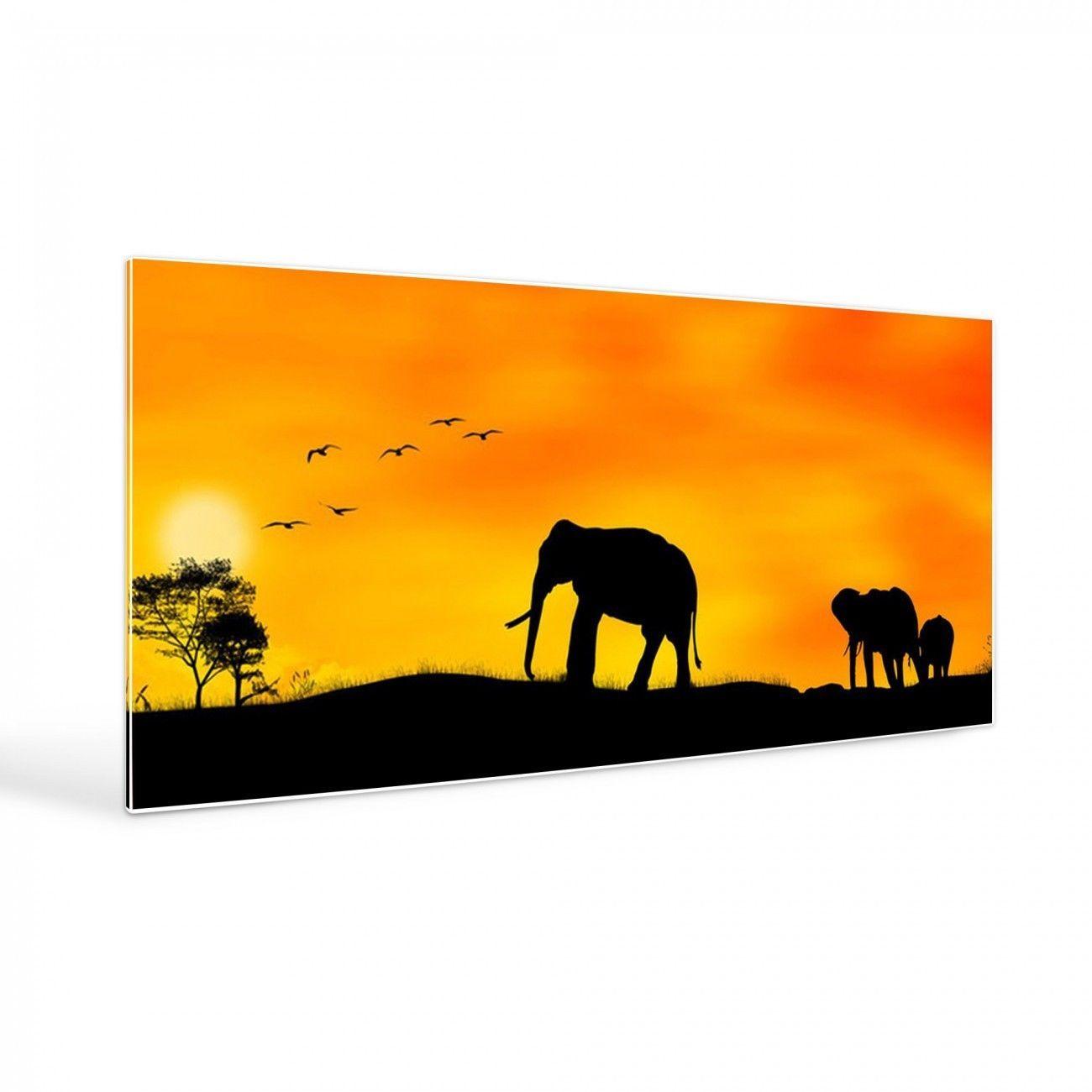 Design Magnettafel groß weiß 16x16cm Pinnwand Motiv Afrika