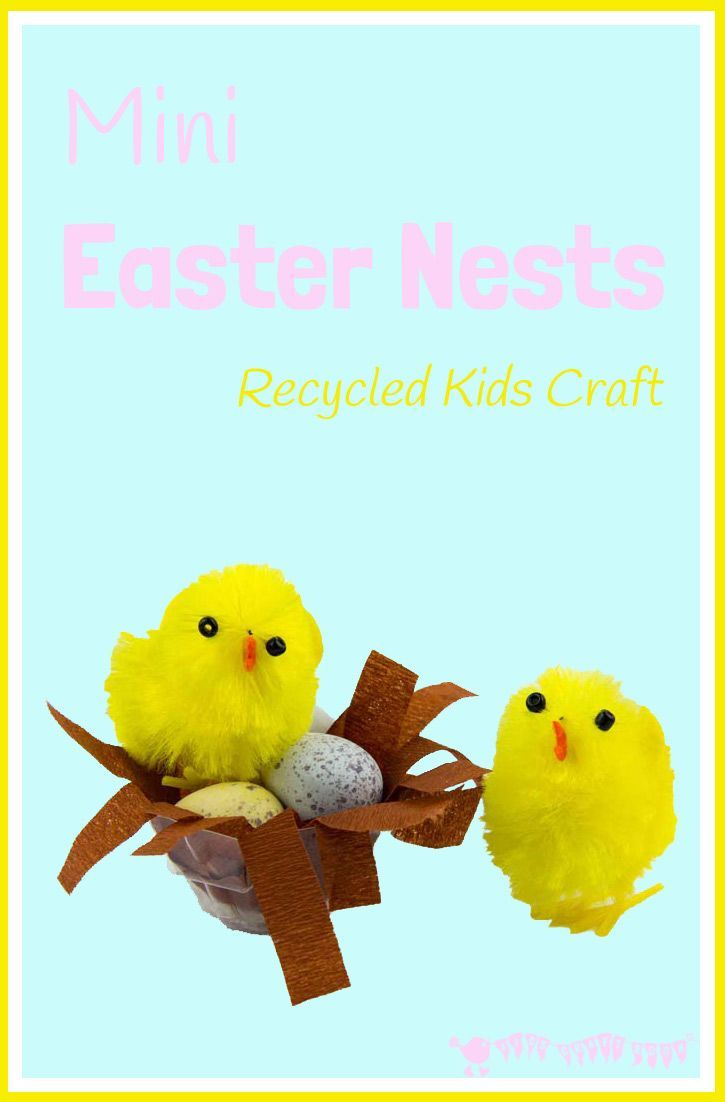Make mini easter baskets little chick nests easter crafts mini easter baskets these little easter nests are the cutest a fab recycled egg negle Image collections