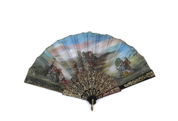 Vintage Ladies Hand Fan.