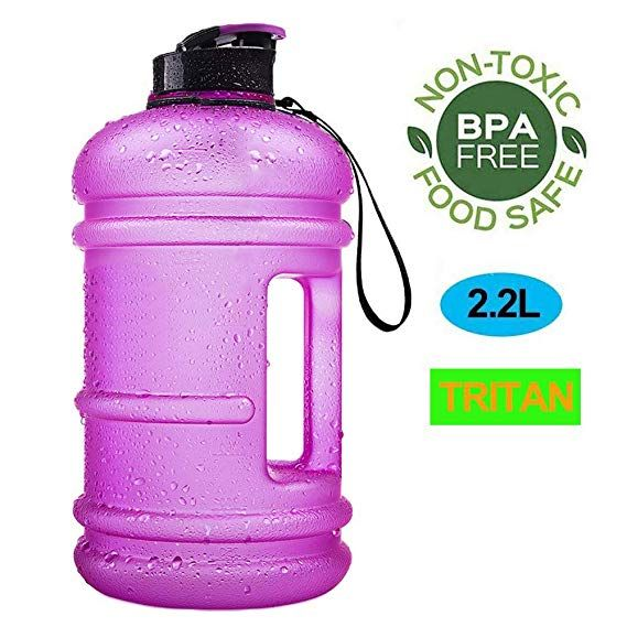 New 2.2L Large Capacity Water Bottle Outdoor Sports Gym Fitness Camping Bicycle
