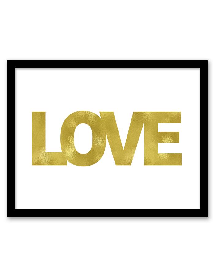 Love Wall Art (Gold) | Free printable, Printable wall art and Walls