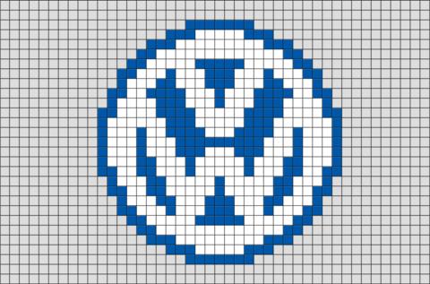 Volkswagen Logo Pixel Art Minecraft Pixel Art Pixel Art Art