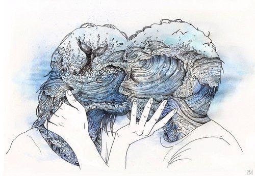 Art Artistic Artists Blue Deep Drawings Hippie Meaningful
