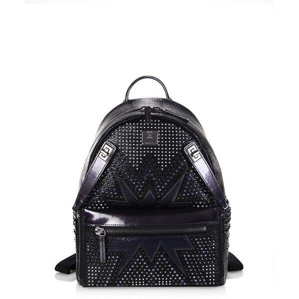 2e78e0410aad MCM Dual Stark Cyber Studs Metallic Leather Backpack ( 1