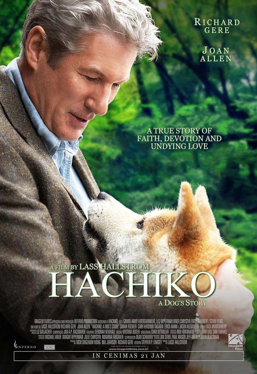 Hachiko Movie Poster.   Dog movies, Movies, A dog's tale
