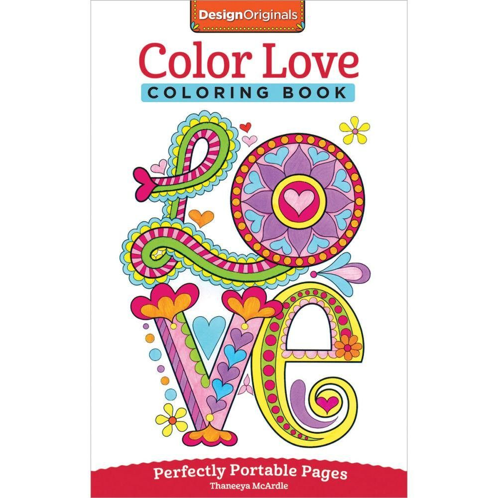 Design Originals Color Love Perfectly Portable Adult Coloring and ...