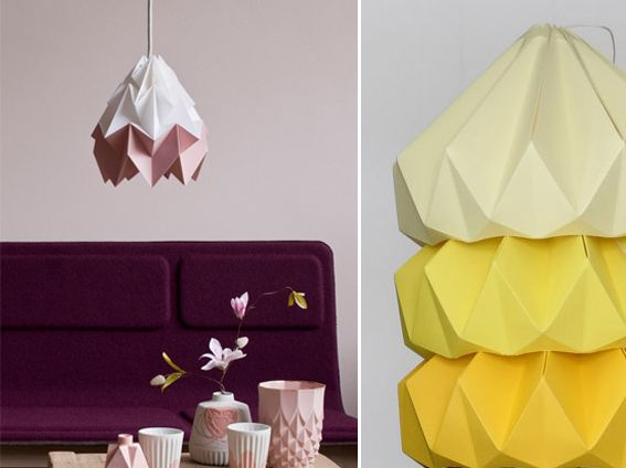 Studio Snowpuppe Lamp : Hand folded lamps from dutch studio snowpuppe whatwedo