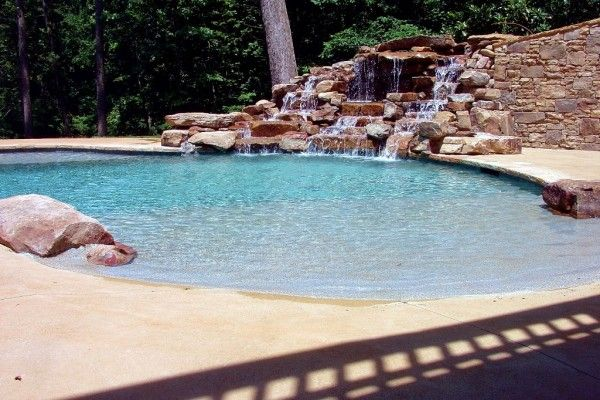 Residential Zero Entry Pool Design | Beach Entry Pools A Beach Entry Or  Shelf Entry Pool