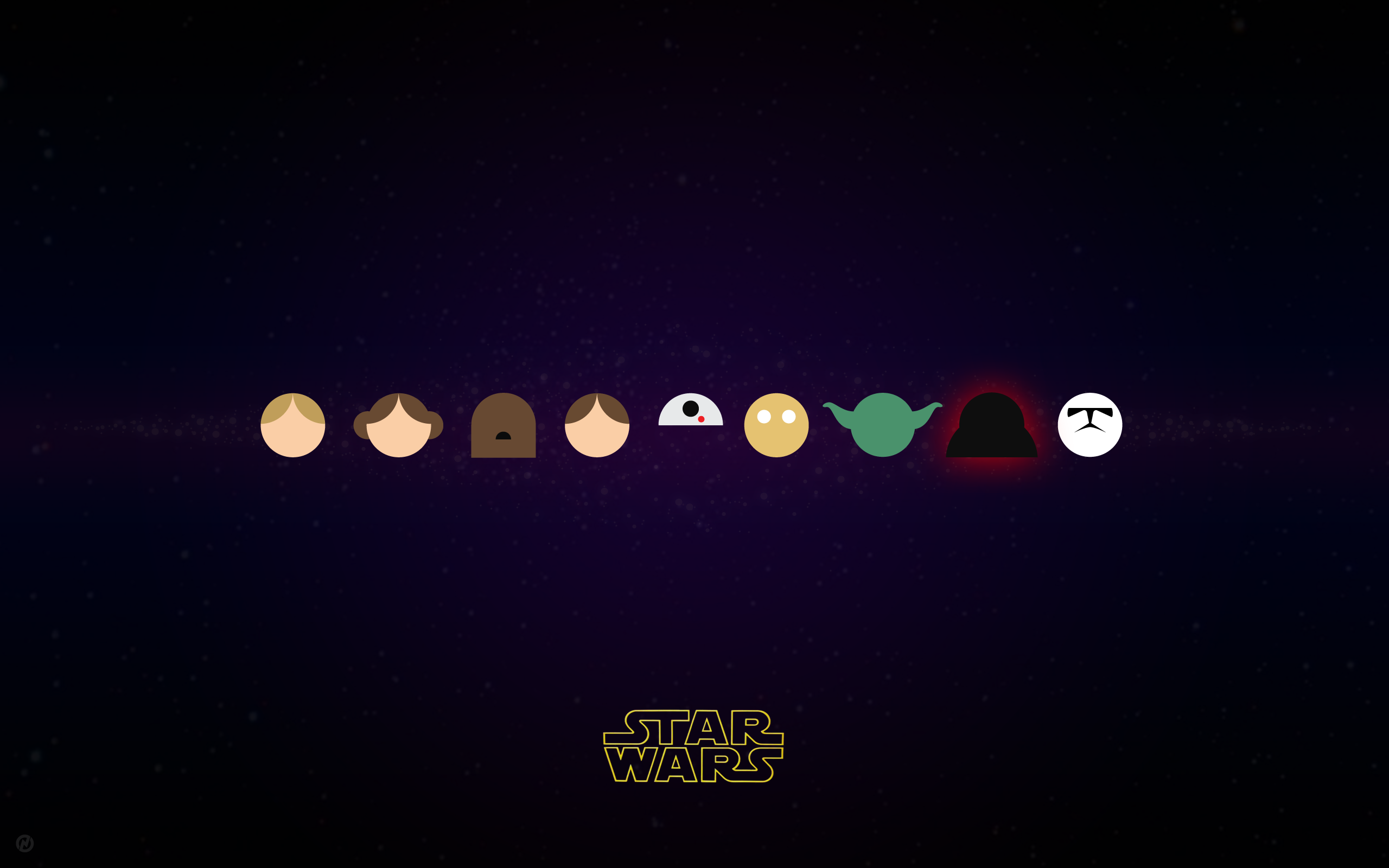 Star Wars Characters In Vector Star Wars Wallpaper Iphone Star Wars Wallpaper Star Wars Diy