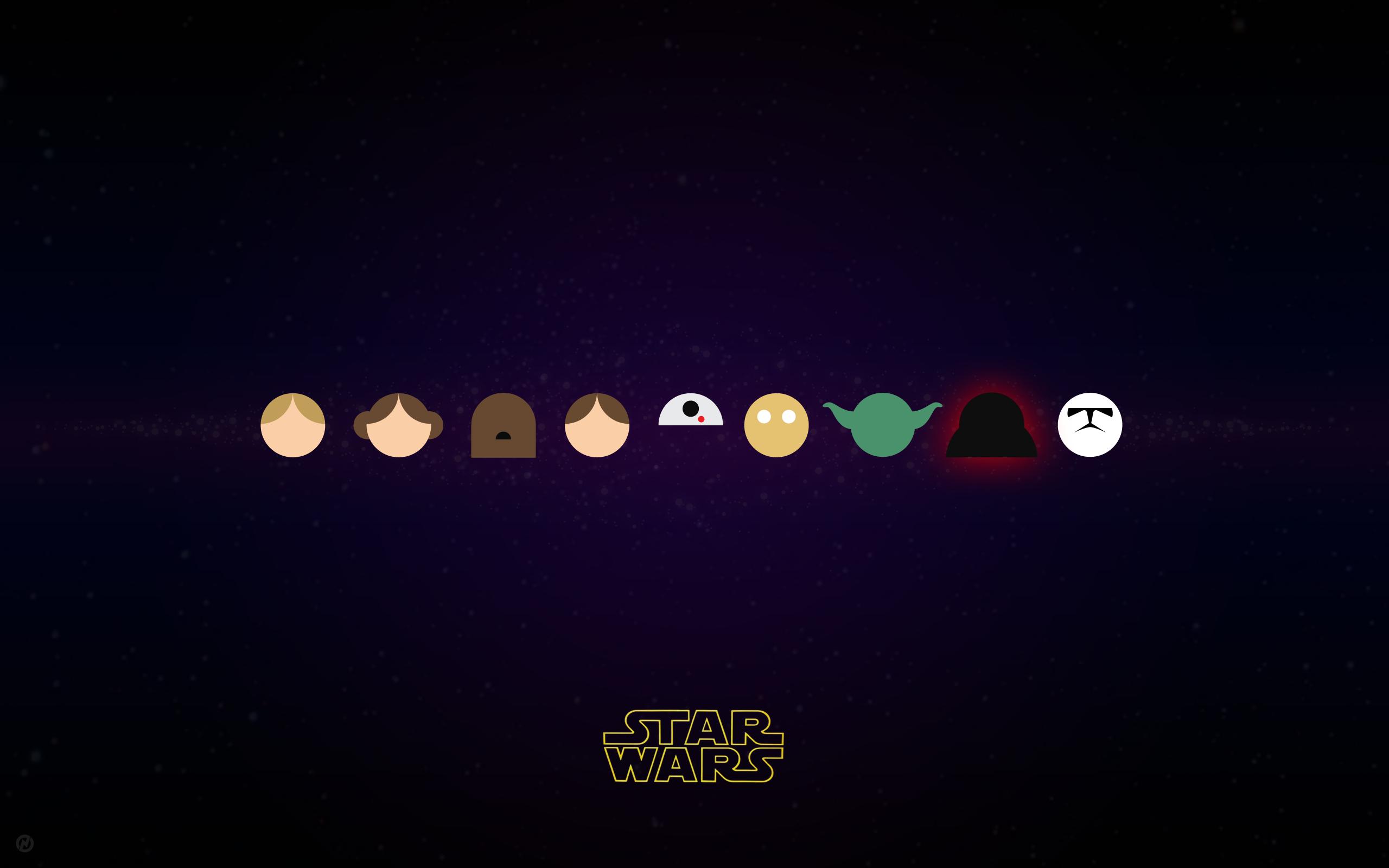 Star Wars Characters In Vector Star Wars Wallpaper Star Wars Diy Star Wars Illustration