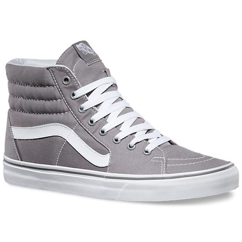 e1f6b9773e26c1 VANS Frost Grey Sk8 Hi Canvas Shoe