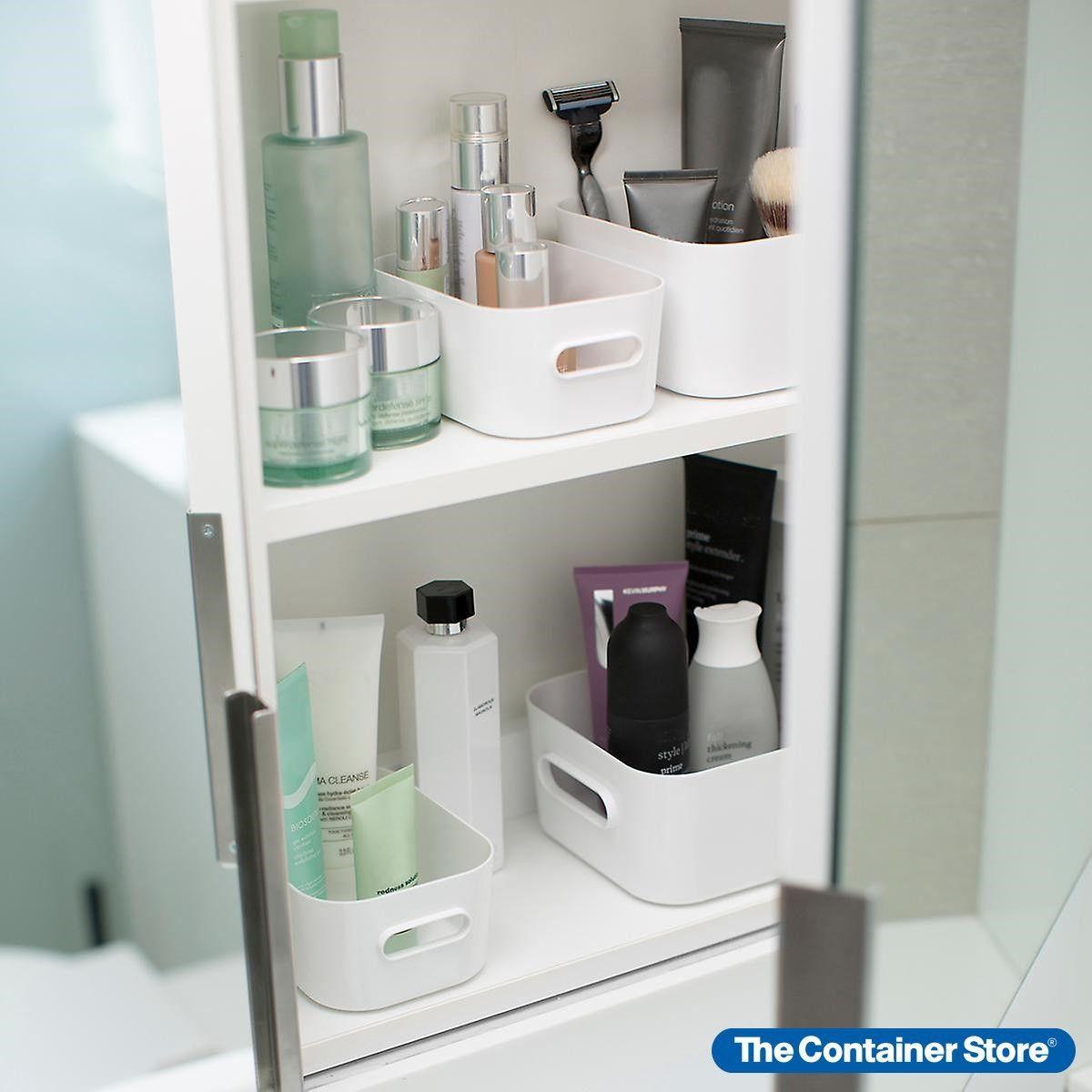 Smart Store Compact Plastic Modular Bins Lids Small Bathroom Storage Under Bathroom Sink Storage Bathroom Sink Storage [ jpg ]