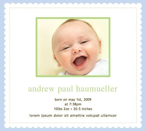 1000 images about Baby Birth Announcements – Create a Birth Announcement